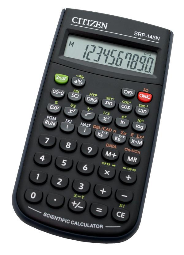 Калькулятор Citizen SRP-145N научный, 86 формул, программируемый