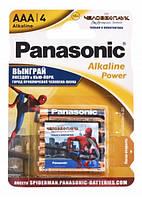 Батарейки ААА Panasonic Alkaline Power Sticker Spider Man (LR03REB / 4BPSSM)