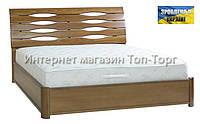 Кровать Мария с ПМ, 1600х2000мм светлый орех, деревянная
