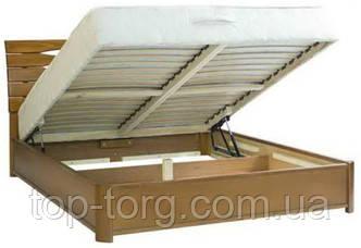 Кровать Мария 1600х2000мм с подъемным механизмом, светлый орех, деревянная