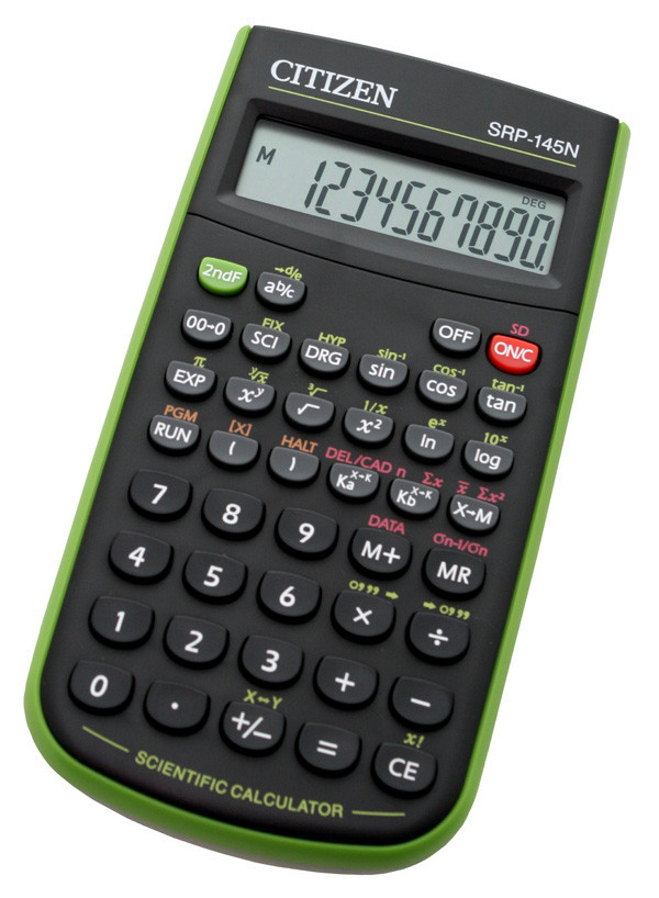 Калькулятор Citizen SRP-145NGR научный, 86 формул, программируемый