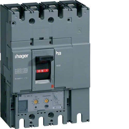 Автоматический выключатель 630А, 3п, 50kA, LSI, Hager HND630H