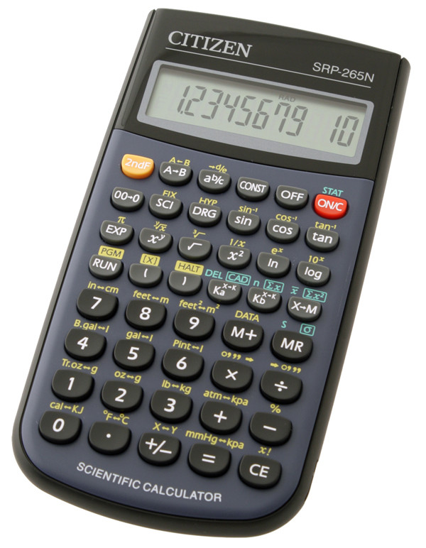 Калькулятор Citizen SRP-265N  научный, 129 формул, программируемый
