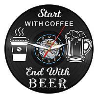 Часы из виниловой пластинки, Coffe and Beer