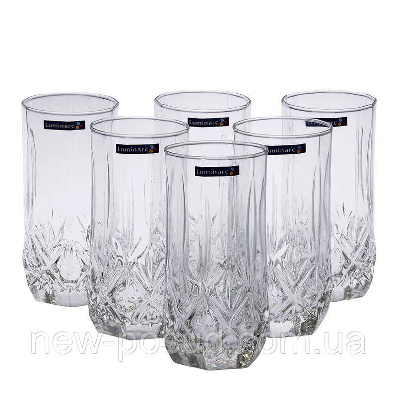 Набор высоких стаканов Luminarc Brighton 6 штук 310 мл N1307