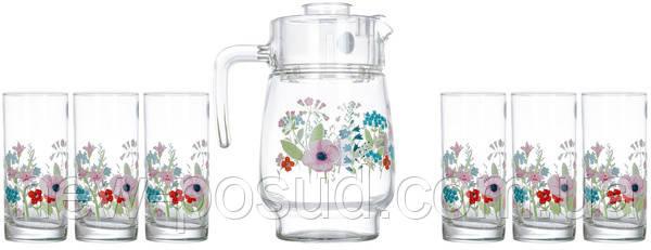 Набор для напитков Luminarc Rose Pompon 7 предметов N3675