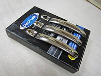 Накладки на ручки плоские Volkswagen Caddy 2010+ нержавейка