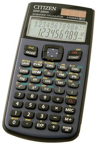 Калькулятор Citizen SRP-285N научный, 455 формул, программируемый, фото 2