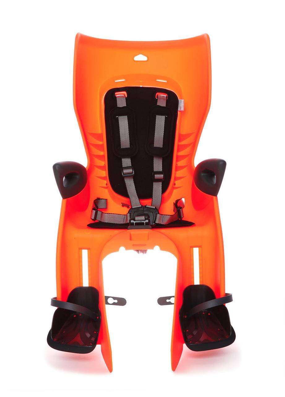 Сиденье заднее Bellelli Summer Standart B-fix до 22кг, оранжевое с черной подкладкой