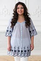 Блуза в народном стиле с  вышивкой