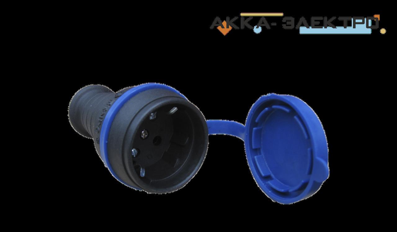 Розетка каучукова 220В 16А кабельна Tenpo