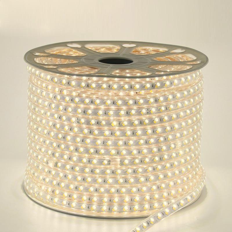 Лента светодиодная 220V smd 5730-52; тёплый белый