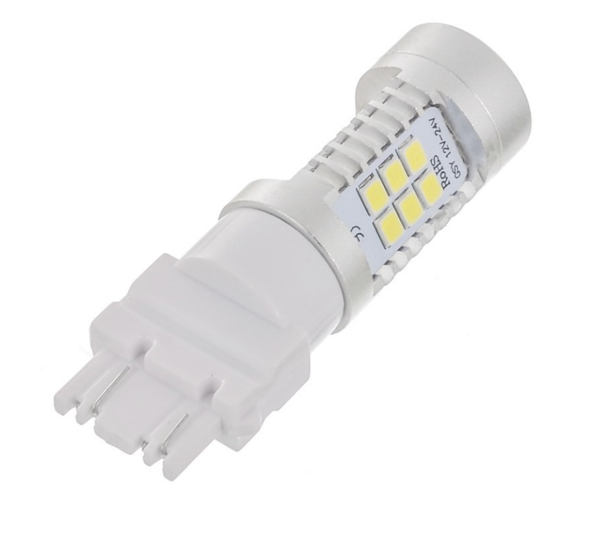 Автолампа LED, T25, P27W, 3156, 12V, 22 SMD 3535, Белая