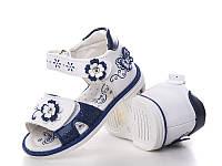 Обувь для девочек, детские босоножки ортопедические белые Clibee (Румыния)