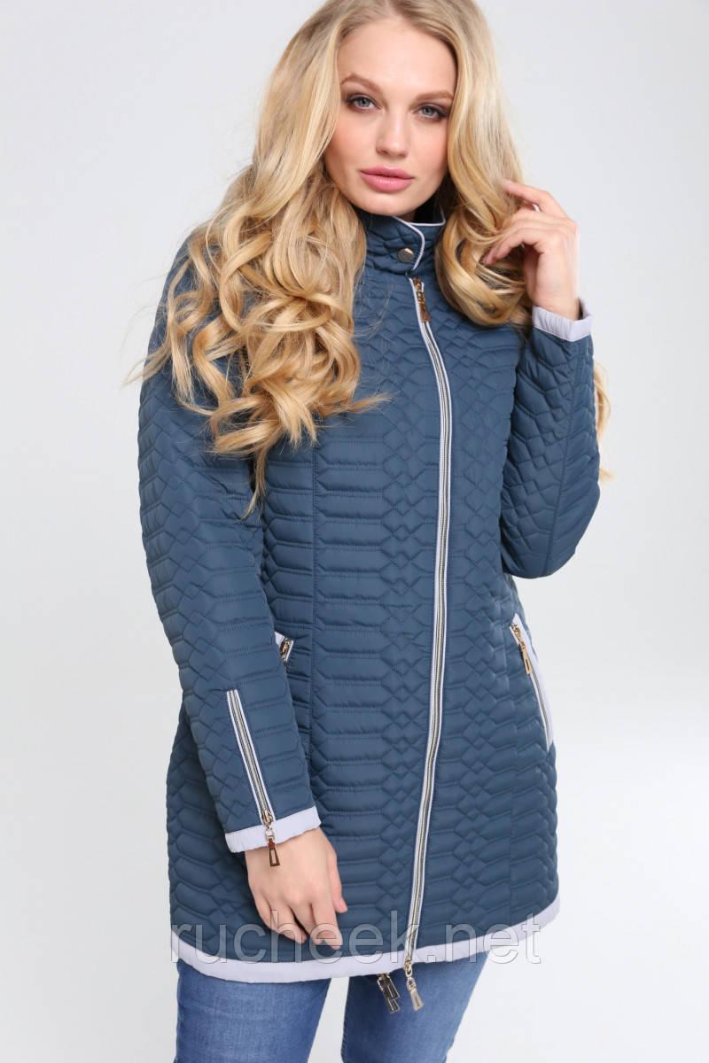 Женская демисезонная куртка Адония, большие размеры 48-68, ТМ Нью вери