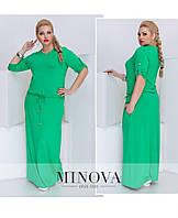 Яркое длинное прямое платье большого размера Фабрика Украина ТМ Минова 46-48. 50-52