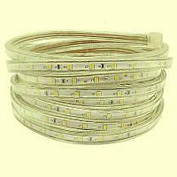 Лента светодиодная 220V smd 2835-180; тёплый белый