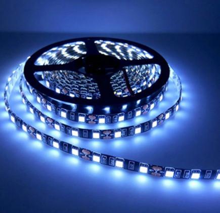 Світлодіодна стрічка LED вологозахищена, на чорній основі, 12V, SMD5050, IP65, 60 д/м, білий