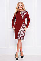 cf983b42c15 Женское бордовое платье для полных женщин Антонина-Б д р