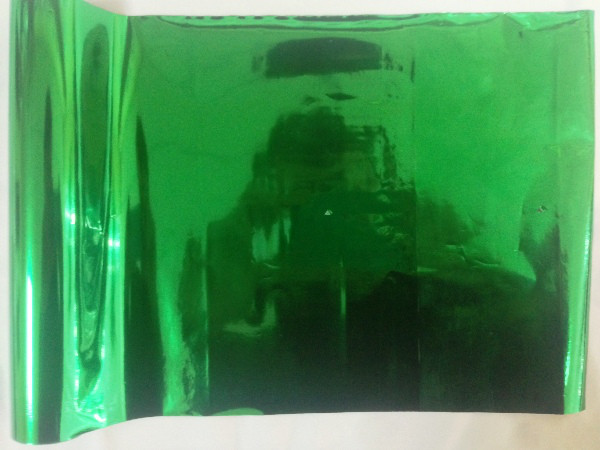 Фольга Ukrcolor №1120 ( Metallic Green ) для термоклея Siser P.S. Adhesive ( рулон 21 см х 30 метров )