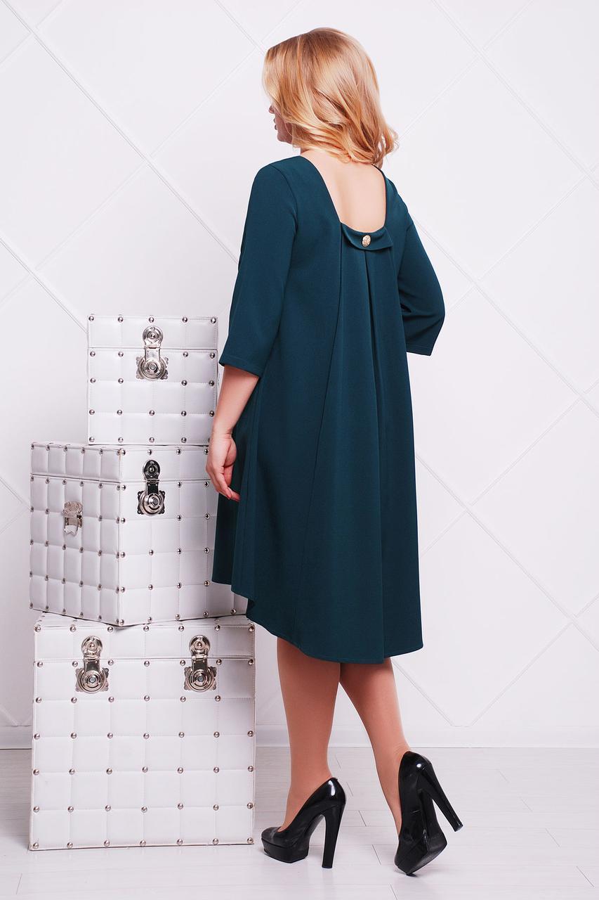 4365d41955f Женское изумрудное платье для полных женщин Лагуна-Б д р
