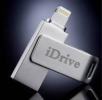 Флеш накопитель iDrive для iPhone и iPad (Lightning+USB)