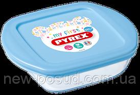 Форма для выпекания и хранения PYREX BABY BLUE 14х12х4 см 210PAV3