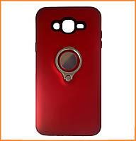 Противоударный TPU+PC чехол Deen с креплением под магнитный держатель для Samsung Galaxy J7 SM-J700H Red