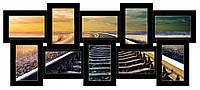 Большая мультирамка воспоминания на 10 фото Красивый декор для дома Отличный подарок друзьям Код: КГ4399