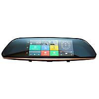 "Видеорегистратор - зеркало для автомобиля 7"" Android T517, фото 1"