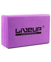 Блок для йоги LiveUp EVA BRICK LS3233A-p