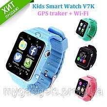 Детские умные часы V7K с камерой и GPS