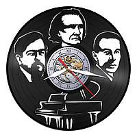 Часы из виниловой пластинки, Композиторы Дебюсси, Рахманинов, Лист