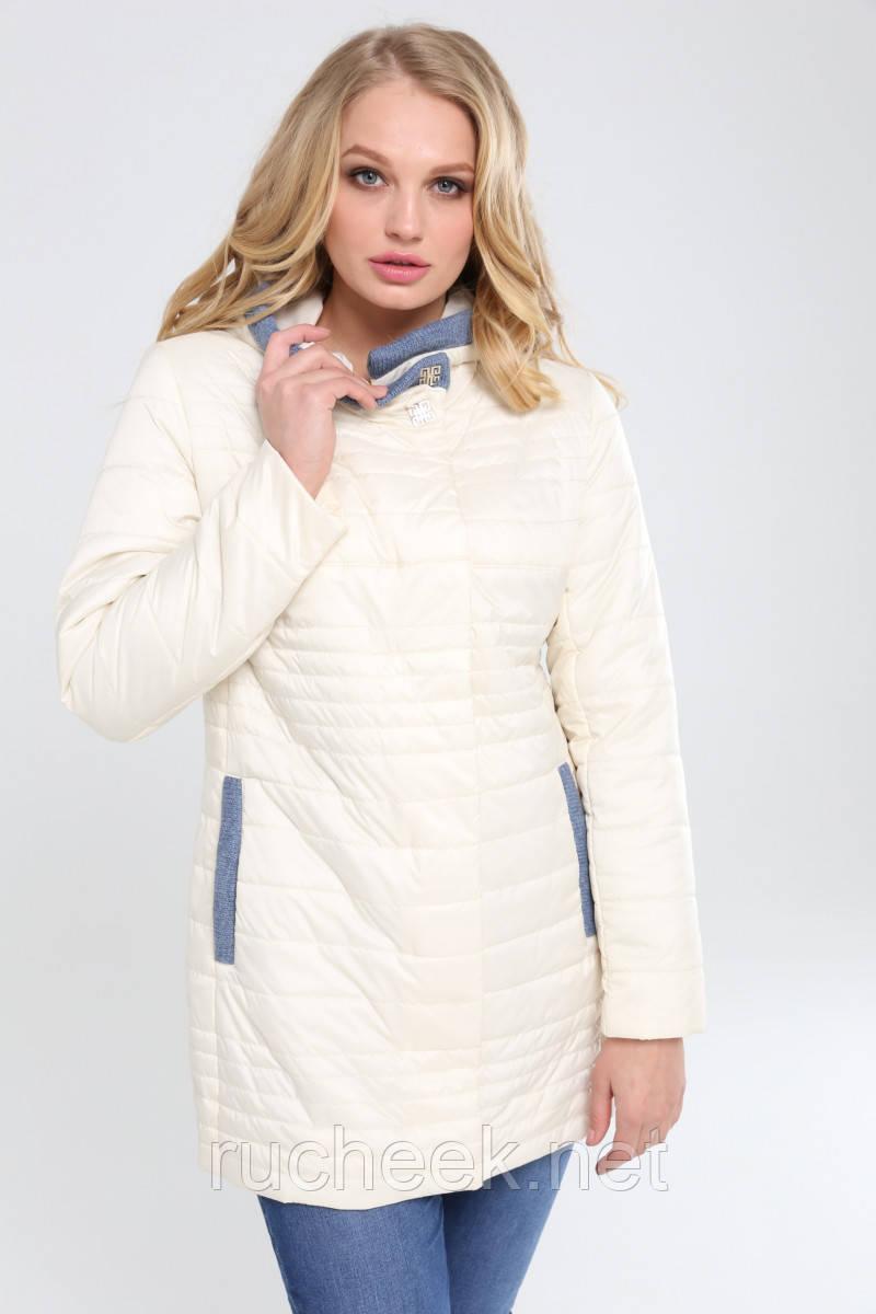 Женская куртка большие размеры Розалия р-ры 48 - 56,  TM NUI VERY крем
