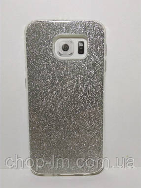 Чехол-накладка для Samsung G920 Galaxy s6 (блестки: серебристый), фото 2