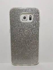 Чехол-накладка для Samsung G920 Galaxy s6 (блестки: серебристый)