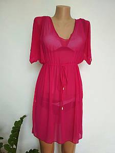 Женская туника для пляжа ягодного цвета M-XL