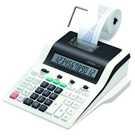 Калькулятор Citizen CX-121N калькулятор с печатью (2 цвета), фото 2