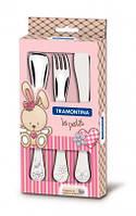 Детский набор столовых приборов Tramontina Baby Le Petit pink 66973/005 3 пр