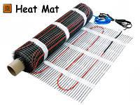 Одножильный нагревательный мат Heat Mat для монтажа под кафель, ламинат, стяжку, наливной пол.
