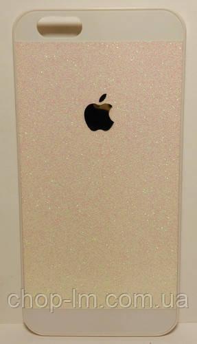 Чехол для iPhone 6G/4.7 розовый с блестками