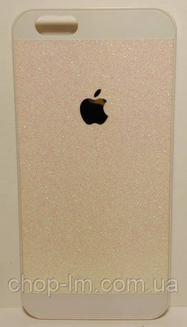 Чехол для iPhone 6G/4.7 розовый с блестками, фото 2