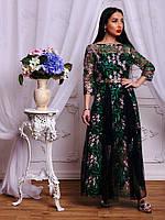 Шикарное платье  с великолепной цветочной вышивкой  арт-698, расцветки. db-1804.059