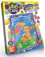 Витражная картина Bubble Clay Уточка с зонтиком BBC-02-03
