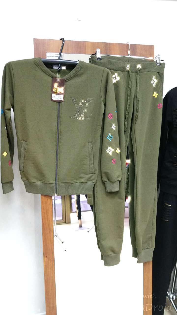 Женский спортивный костюм Хаки Louis Vuitton - Showroom Odessa City в Одессе e5d7ea446ed