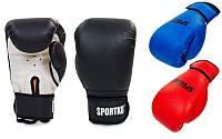 Перчатки боксерские на липучке Sportko PD-2, 3 цвета: 8-12 унций (кожвинил)