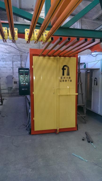 Монтаж оранжевого покрасочного участка для алюминиевых профилей 3