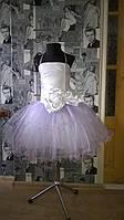 Нарядное платье на девочку с атласным бантом
