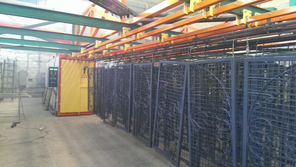 Монтаж оранжевого покрасочного участка для алюминиевых профилей 8