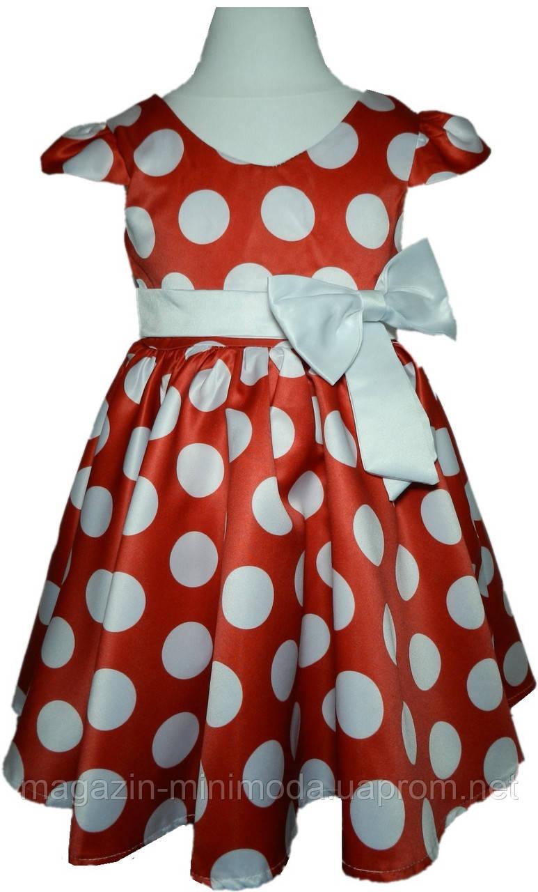 e4e6b2a2d8f2a34 Детское красное платье в горошек